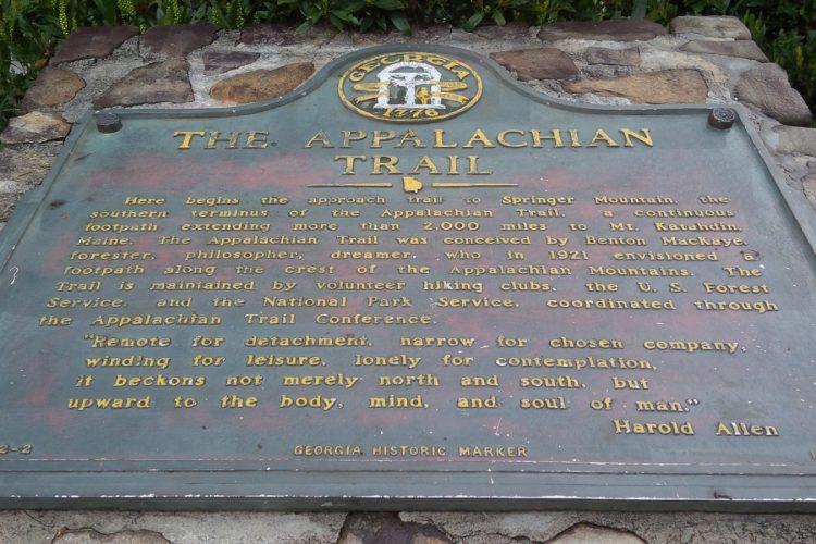 Amicolola Falls Visitor Center plaque
